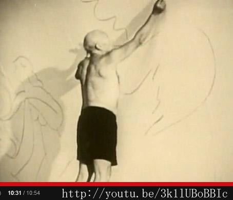 Пикассо, рисующий голубя