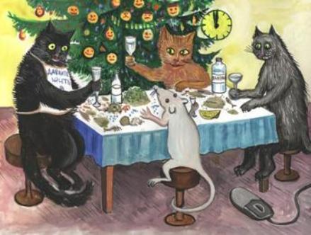 Поздравление с новым годом от котика фото 654