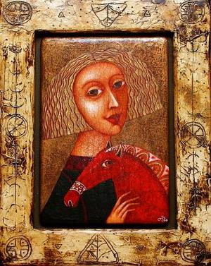 Девушка с Красным Конём