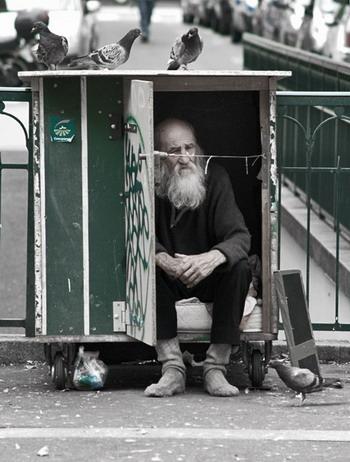 Человек, живущий в ящике
