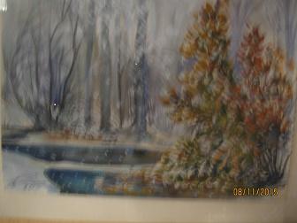 Таиров, Осень, акварель