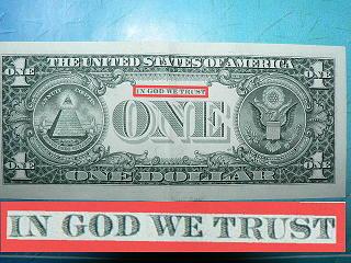 А почему не отображается долларовая купюра с надписью IN GOD WE TRUST ???