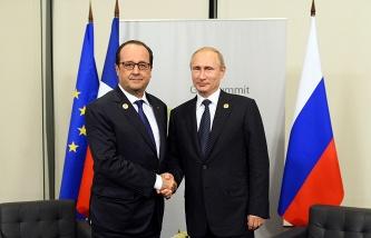 Франсуа Олланд в Москве 6 декабря 2014 г.
