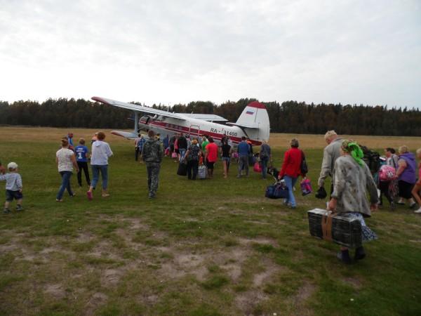 Посадка в самолет Ан-2 аэропорт Лопшеньга Архангельской области