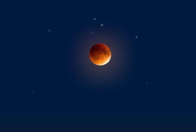 Полное лунное затменние