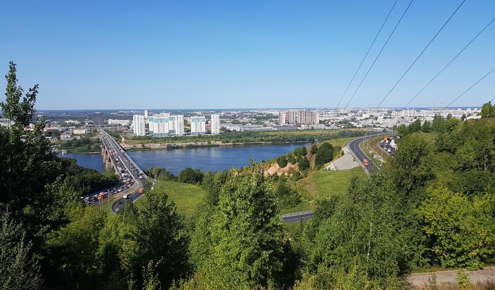 Молитовский мост, Нижний Новгород, пробка