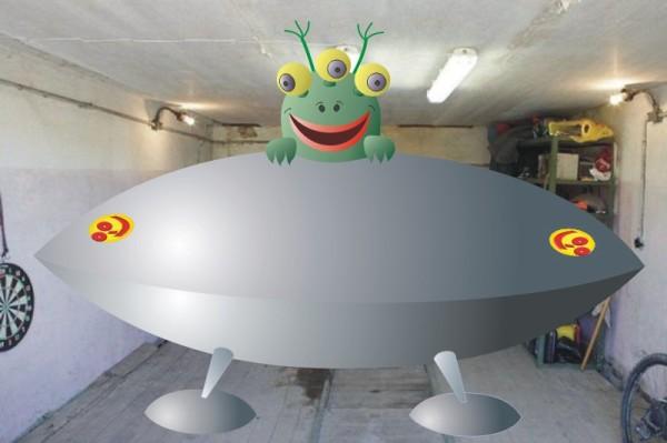 Папкина тарелка - песня про инопланетян