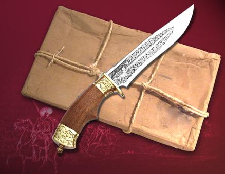 Охтничий нож - подарок на 23 февраля