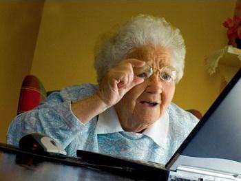 Бабушка с компьютером